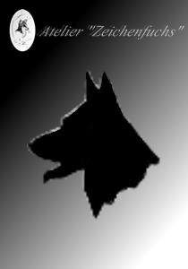 Bleistiftzeichnung eines Greyhounds